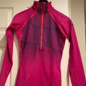 Pink Nike quarter zip
